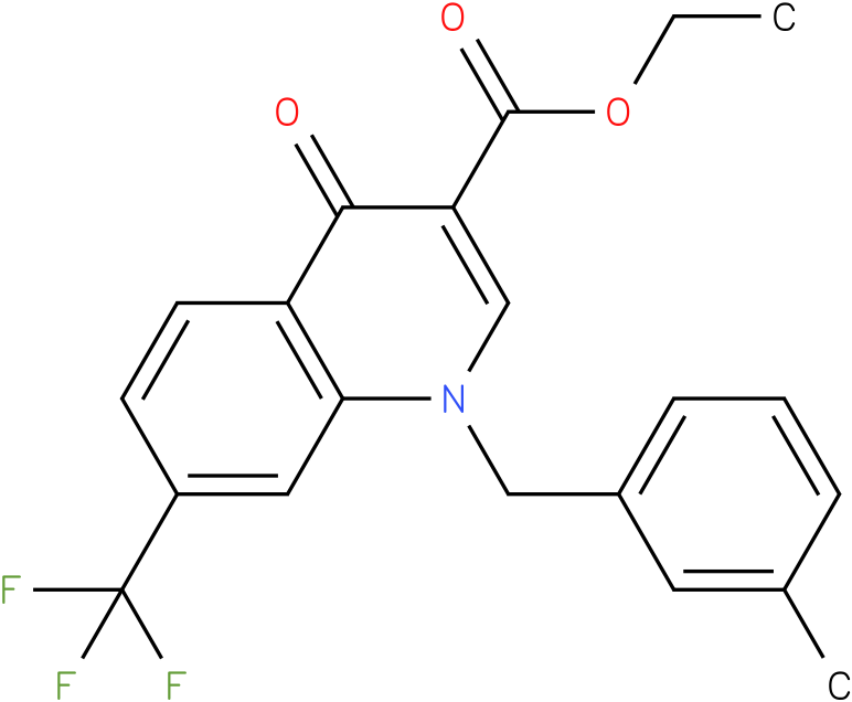 1-(3-Methyl-benzyl)-4-oxo-7-trifluoromethyl-1,4-dihydro-quinoline-3-carboxylic acid ethyl ester