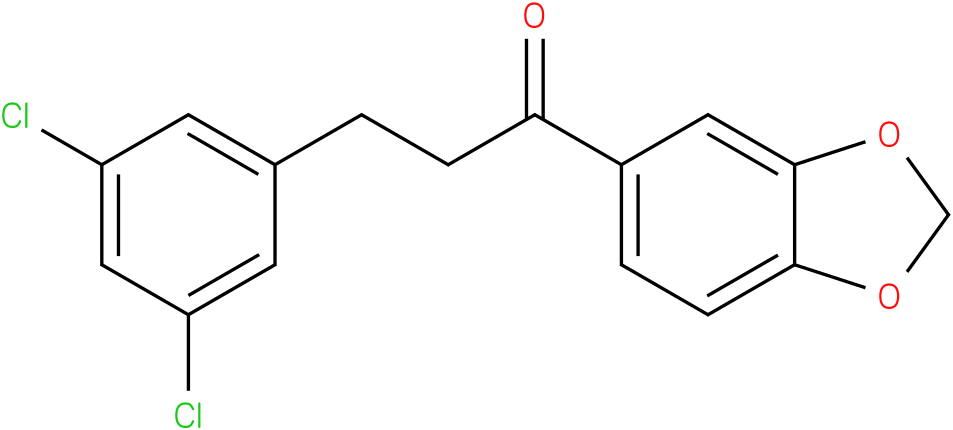 1-Benzo[1,3]dioxol-5-yl-3-(3,5-dichloro-phenyl)-propan-1-one