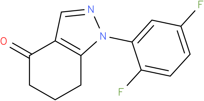1-(2,5-Difluoro-phenyl)-1,5,6,7-tetrahydro-indazol-4-one