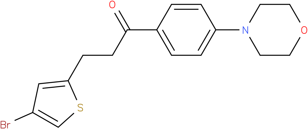 3-(4-Bromo-thiophen-2-yl)-1-(4-morpholin-4-yl-phenyl)-propan-1-one
