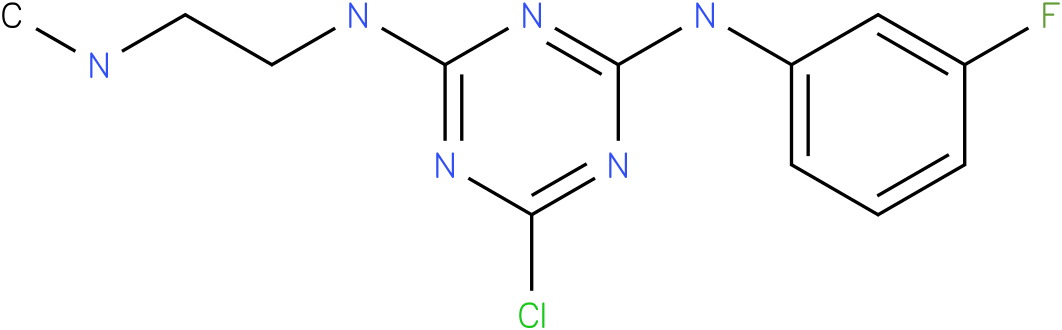6-Chloro-N-(3-fluoro-phenyl)-N'-(2-methylamino-ethyl)-[1,3,5]triazine-2,4-diamine