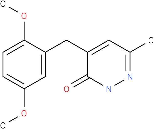 4-(2,5-Dimethoxy-benzyl)-6-methyl-2H-pyridazin-3-one