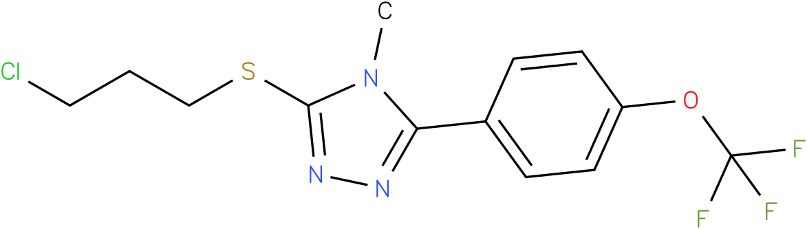 3-(3-Chloro-propylsulfanyl)-4-methyl-5-(4-trifluoromethoxy-phenyl)-4H-[1,2,4]triazole