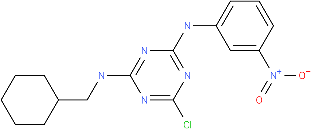 6-Chloro-N-cyclohexylmethyl-N'-(3-nitro-phenyl)-[1,3,5]triazine-2,4-diamine