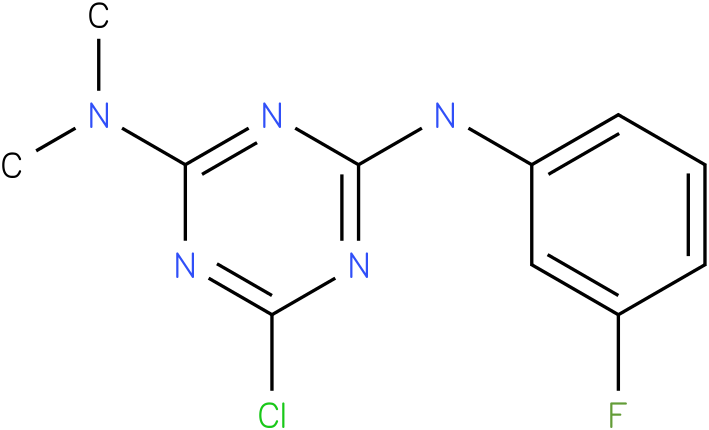 6-Chloro-N,N-dimethyl-N'-(3-fluoro-phenyl)-[1,3,5]triazine-2,4-diamine