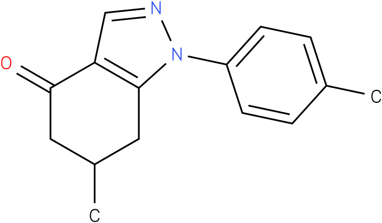 6-Methyl-1-p-tolyl-1,5,6,7-tetrahydro-indazol-4-one