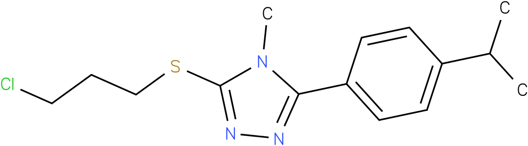 3-(3-Chloro-propylsulfanyl)-5-(4-isopropyl-phenyl)-4-methyl-4H-[1,2,4]triazole