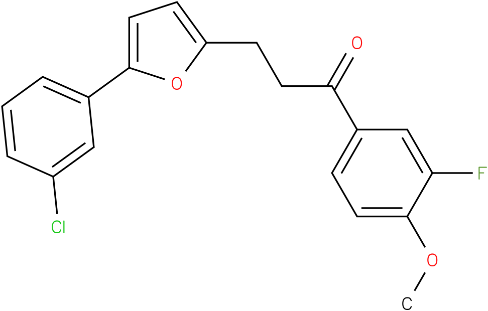 3-[5-(3-Chloro-phenyl)-furan-2-yl]-1-(3-fluoro-4-methoxy-phenyl)-propan-1-one