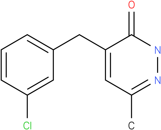 4-(3-Chloro-benzyl)-6-methyl-2H-pyridazin-3-one