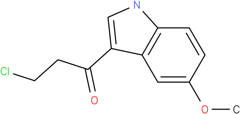 3-Chloro-1-(5-methoxy-1H-indol-3-yl)-propan-1-one