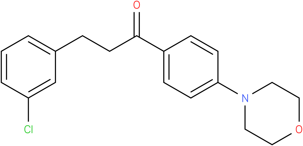3-(3-Chloro-phenyl)-1-(4-morpholin-4-yl-phenyl)-propan-1-one