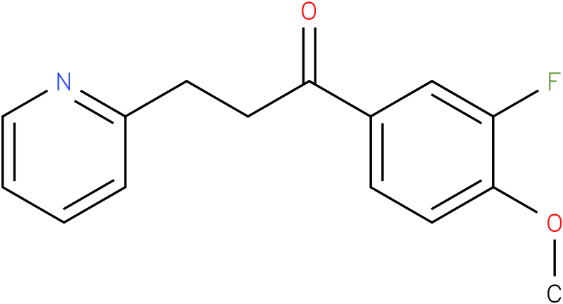 1-(3-Fluoro-4-methoxy-phenyl)-3-pyridin-2-yl-propan-1-one