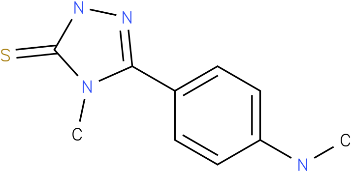 4-Methyl-5-(4-methylamino-phenyl)-2,4-dihydro-[1,2,4]triazole-3-thione