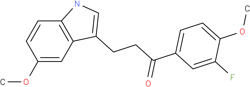 1-(3-Fluoro-4-methoxy-phenyl)-3-(5-methoxy-1H-indol-3-yl)-propan-1-one