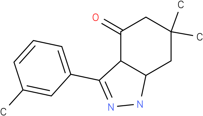 6,6-Dimethyl-3-m-tolyl-1,3a,5,6,7,7a-hexahydro-indazol-4-one