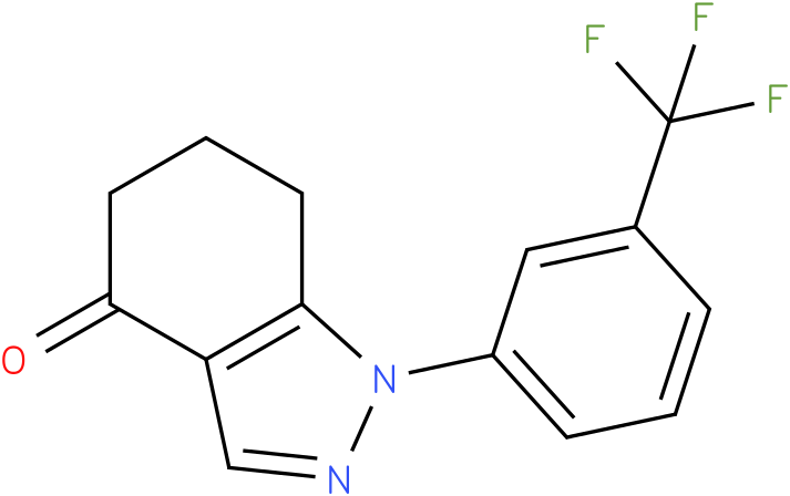 1-(3-Trifluoromethyl-phenyl)-1,5,6,7-tetrahydro-indazol-4-one