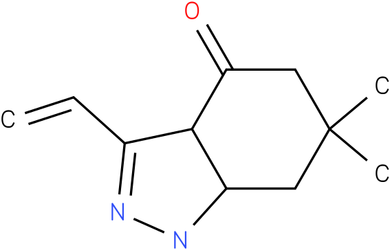 6,6-Dimethyl-3-vinyl-1,3a,5,6,7,7a-hexahydro-indazol-4-one