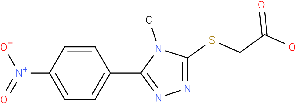 [4-Methyl-5-(4-nitro-phenyl)-4H-[1,2,4]triazol-3-ylsulfanyl]-acetic acid