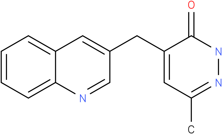 6-Methyl-4-quinolin-3-ylmethyl-2H-pyridazin-3-one