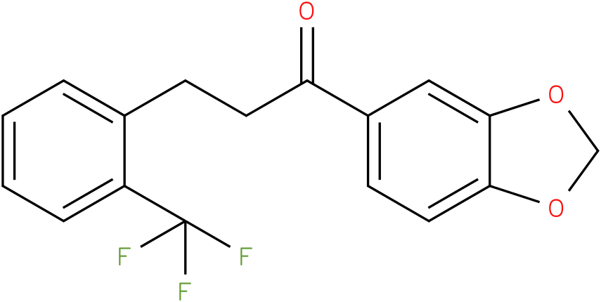 1-Benzo[1,3]dioxol-5-yl-3-(2-trifluoromethyl-phenyl)-propan-1-one