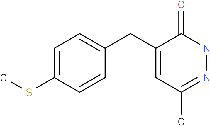6-Methyl-4-(4-methylsulfanyl-benzyl)-2H-pyridazin-3-one