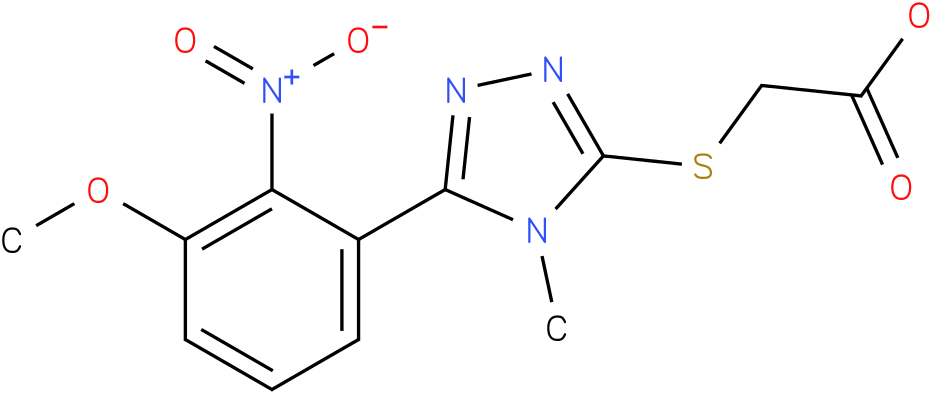 [5-(3-Methoxy-2-nitro-phenyl)-4-methyl-4H-[1,2,4]triazol-3-ylsulfanyl]-acetic acid