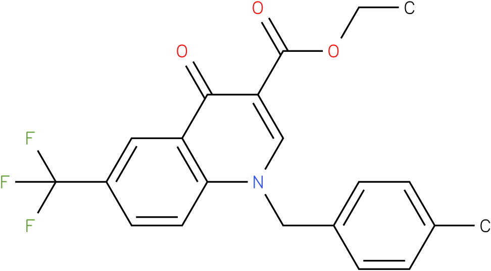 1-(4-Methyl-benzyl)-4-oxo-6-trifluoromethyl-1,4-dihydro-quinoline-3-carboxylic acid ethyl ester
