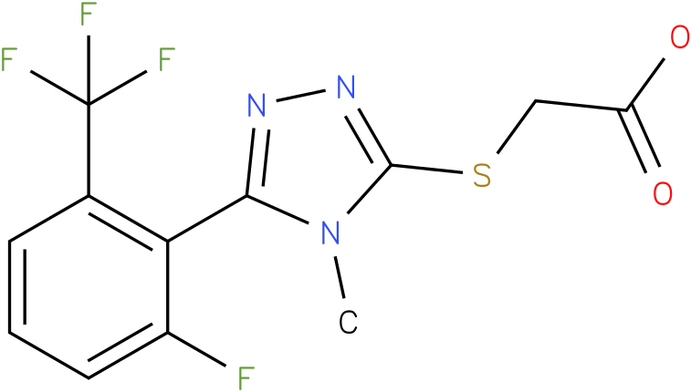 [5-(2-Fluoro-6-trifluoromethyl-phenyl)-4-methyl-4H-[1,2,4]triazol-3-ylsulfanyl]-acetic acid