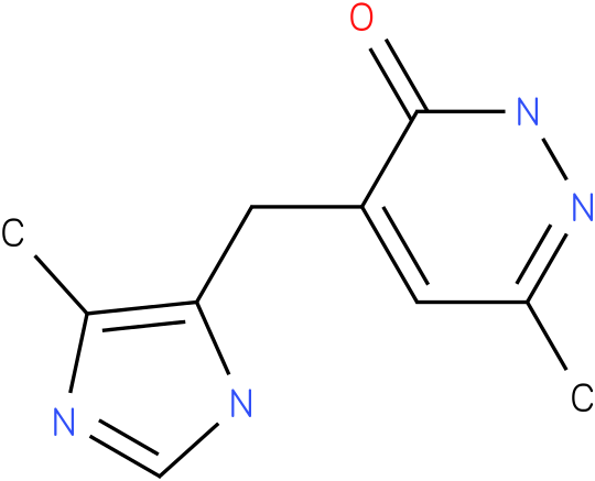 6-Methyl-4-(5-methyl-3H-imidazol-4-ylmethyl)-2H-pyridazin-3-one