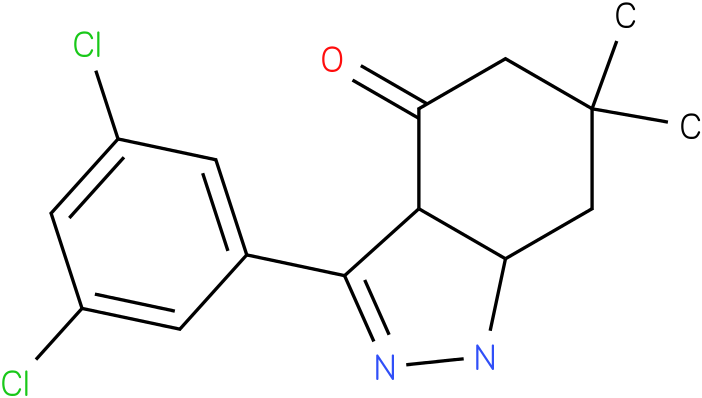 3-(3,5-Dichloro-phenyl)-6,6-dimethyl-1,3a,5,6,7,7a-hexahydro-indazol-4-one
