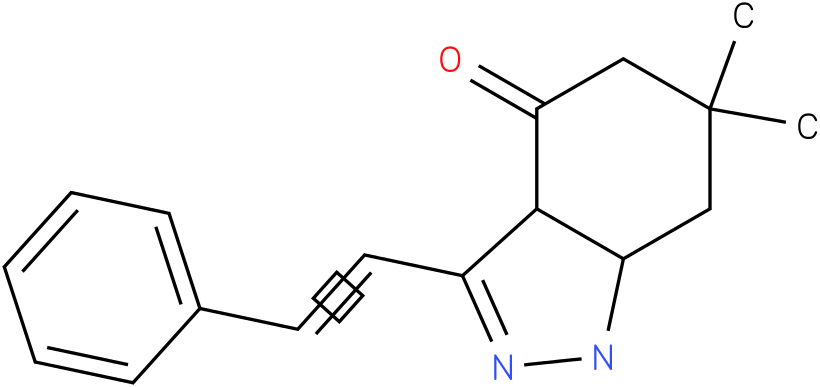 6,6-Dimethyl-3-styryl-1,3a,5,6,7,7a-hexahydro-indazol-4-one
