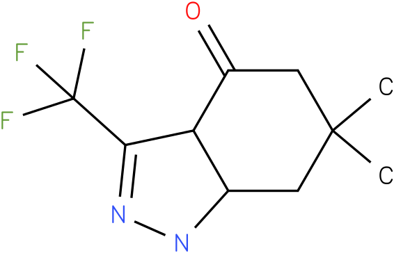 6,6-Dimethyl-3-trifluoromethyl-1,3a,5,6,7,7a-hexahydro-indazol-4-one