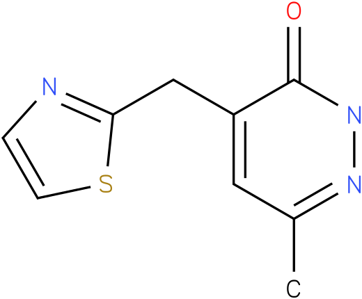 6-Methyl-4-thiazol-2-ylmethyl-2H-pyridazin-3-one