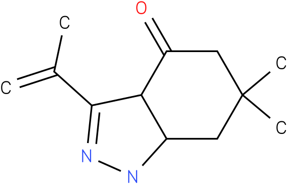 3-Isopropenyl-6,6-dimethyl-1,3a,5,6,7,7a-hexahydro-indazol-4-one
