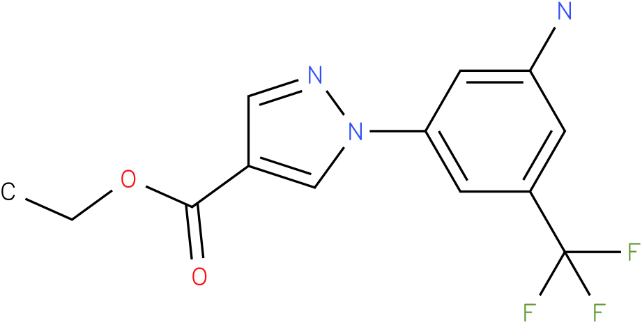 1-(3-Amino-5-trifluoromethyl-phenyl)-1H-pyrazole-4-carboxylic acid ethyl ester