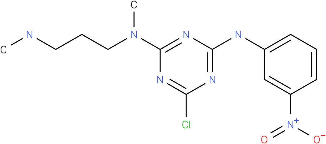 6-Chloro-N-methyl-N-(3-methylamino-propyl)-N'-(3-nitro-phenyl)-[1,3,5]triazine-2,4-diamine