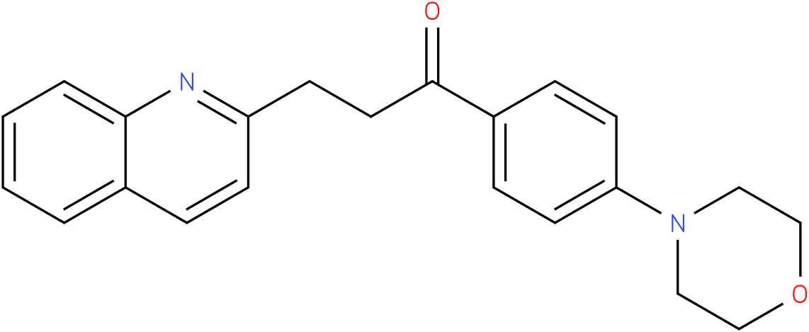 1-(4-Morpholin-4-yl-phenyl)-3-quinolin-2-yl-propan-1-one