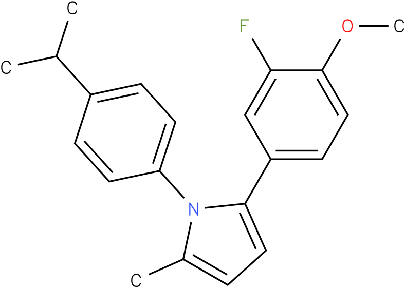 2-(3-Fluoro-4-methoxy-phenyl)-1-(4-isopropyl-phenyl)-5-methyl-1H-pyrrole