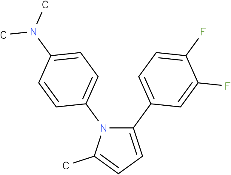 {4-[2-(3,4-Difluoro-phenyl)-5-methyl-pyrrol-1-yl]-phenyl}-dimethyl-amine