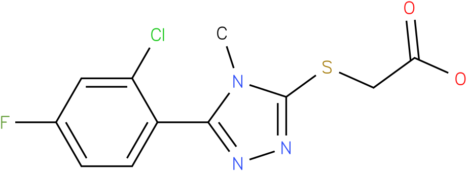 [5-(2-Chloro-4-fluoro-phenyl)-4-methyl-4H-[1,2,4]triazol-3-ylsulfanyl]-acetic acid