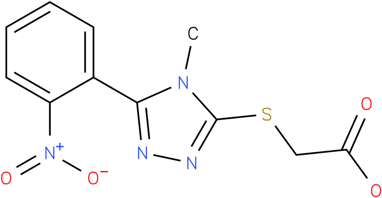[4-Methyl-5-(2-nitro-phenyl)-4H-[1,2,4]triazol-3-ylsulfanyl]-acetic acid