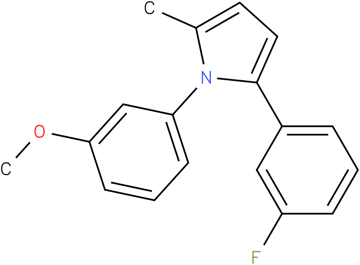 2-(3-Fluoro-phenyl)-1-(3-methoxy-phenyl)-5-methyl-1H-pyrrole