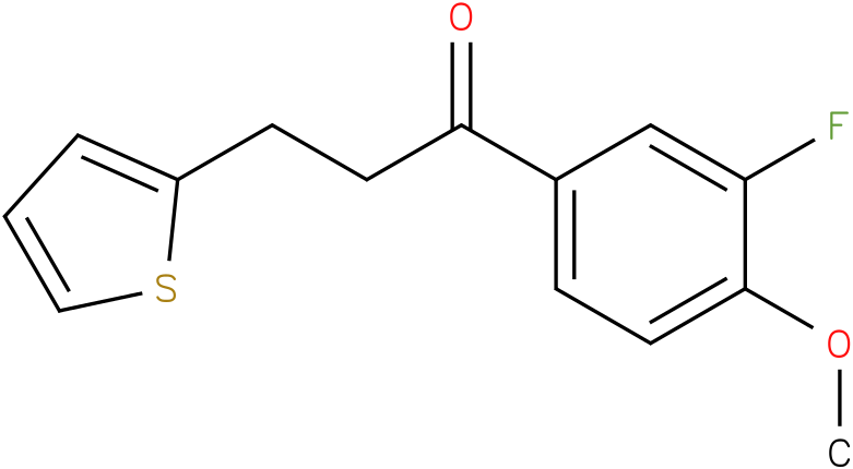1-(3-Fluoro-4-methoxy-phenyl)-3-thiophen-2-yl-propan-1-one