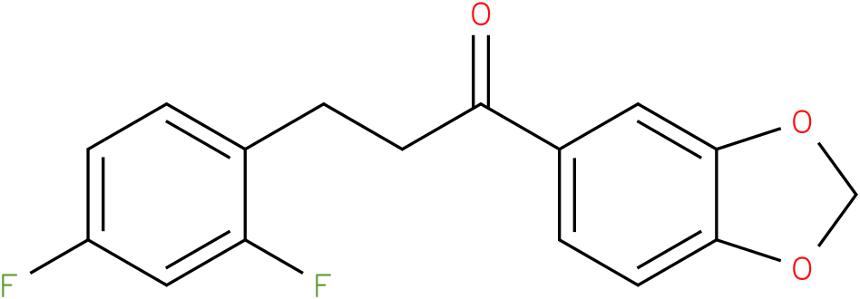 1-Benzo[1,3]dioxol-5-yl-3-(2,4-difluoro-phenyl)-propan-1-one