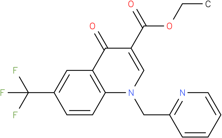 4-Oxo-1-pyridin-2-ylmethyl-6-trifluoromethyl-1,4-dihydro-quinoline-3-carboxylic acid ethyl ester