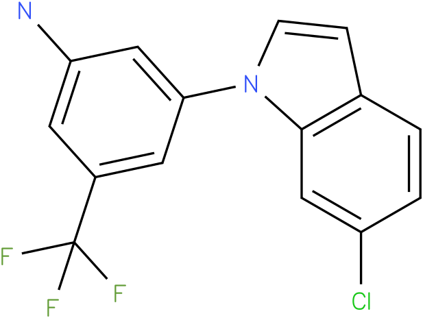 3-(6-Chloro-indol-1-yl)-5-trifluoromethyl-phenylamine