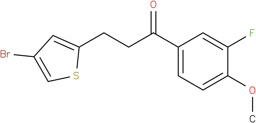 3-(4-Bromo-thiophen-2-yl)-1-(3-fluoro-4-methoxy-phenyl)-propan-1-one