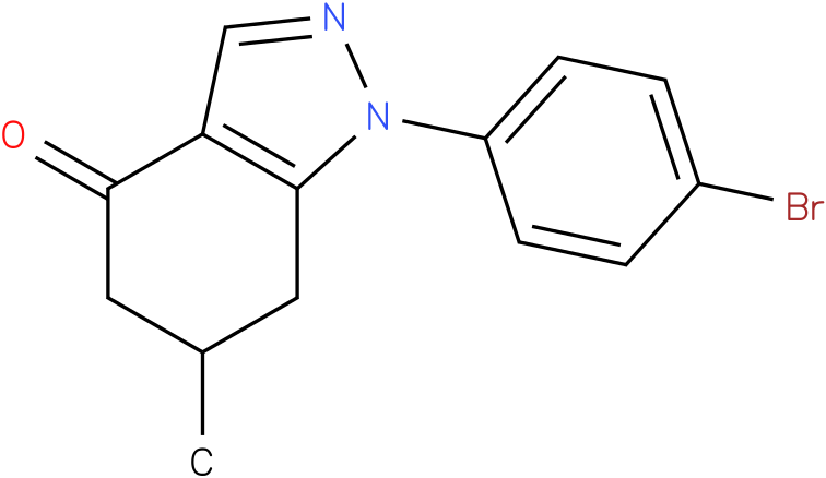 1-(4-Bromo-phenyl)-6-methyl-1,5,6,7-tetrahydro-indazol-4-one