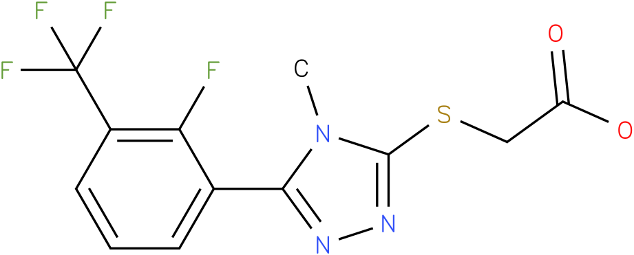 [5-(2-Fluoro-3-trifluoromethyl-phenyl)-4-methyl-4H-[1,2,4]triazol-3-ylsulfanyl]-acetic acid