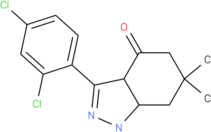 3-(2,4-Dichloro-phenyl)-6,6-dimethyl-1,3a,5,6,7,7a-hexahydro-indazol-4-one